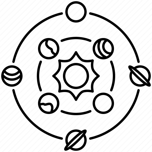 Galaxy, orbit, planet, solar, system icon - Download on Iconfinder