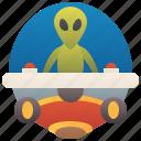 alien, extraterrestrial, invader, spaceship, ufo icon