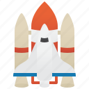 rocket, shuttle, space, spacecraft, transportation