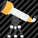 astronomy, stargazer, telescope, tripod, spyglass icon