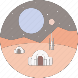 astronomy, space, star wars, tatooine icon