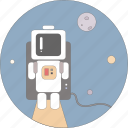 astronaut, astronomy, planets, space, star icon
