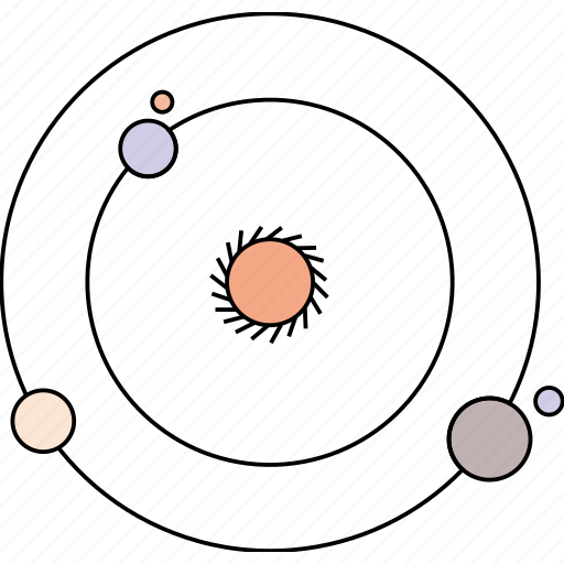 astronomy, cosmos, solar system, space, universe icon