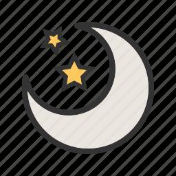 clouds, dark, moon, night, sky, space, stars icon
