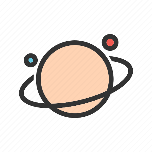 moon, nature, planet, saturn, space, star, world icon