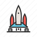 launch, mission, rocket, ship, shuttle, space, spaceship icon