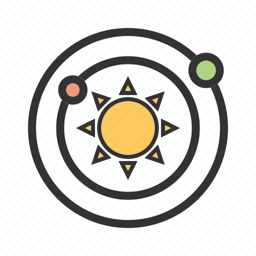 galaxy, moon, planet, planets, solar, space, system icon