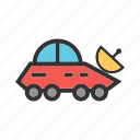 broadcast, broadcasting, car, news, satellite, vehicle icon