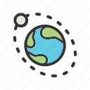 earth, moon, nasa, orbit, planet, science, space icon