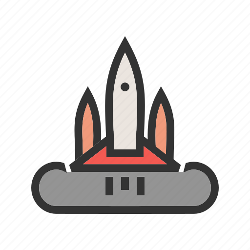 launch, mission, rocket, science, shuttle, space, spaceship icon