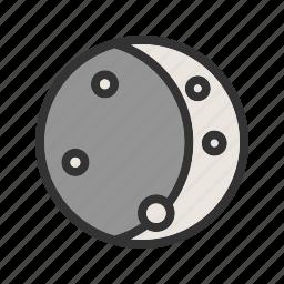 astronomy, lunar, moon, moonlight, night, sky, space icon