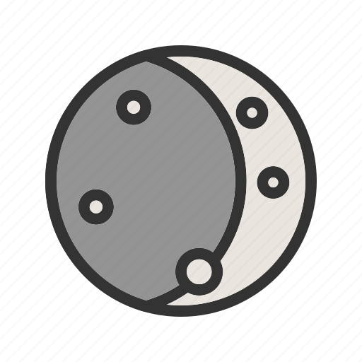 astronomy, lunar, moon, moonlight, night, sky, space icon