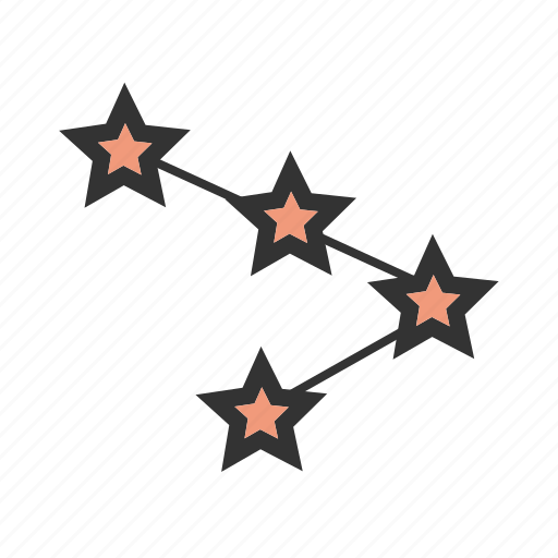 constellation, galaxy, network, sky, space, stars, technology icon
