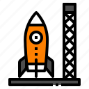 base, launch, rocket, spacship, startup icon