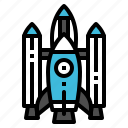 launch, rocket, shuttle, spacship, startup icon