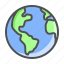 astronomy, earth, planet, space icon