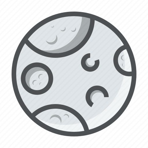 astronomy, moon, planet, space icon