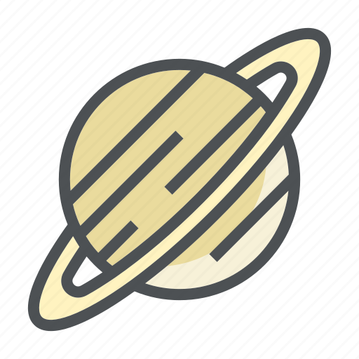 astronomy, planet, saturn, space icon