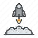 astronomy, launch, rocket, space, spaceship icon