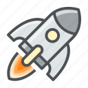 astronomy, rocket, space, spaceship, startup icon