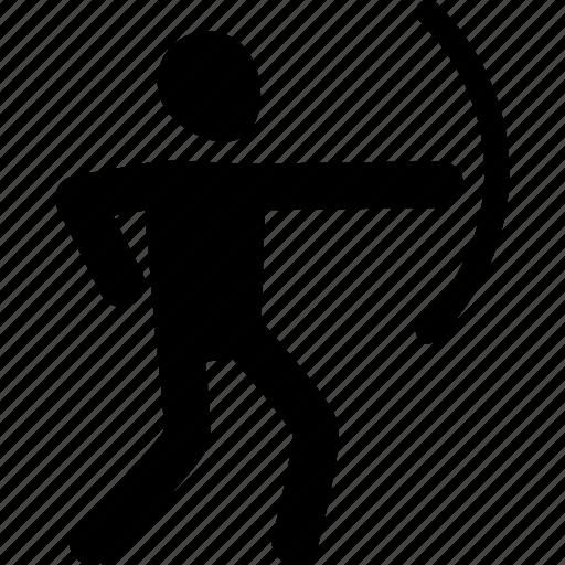aim, archer, athlete, exercise, sport, workout icon