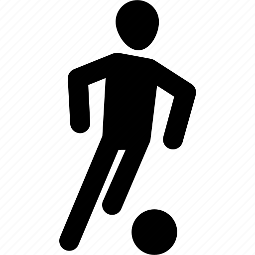 athlete, ball, football, silhouette, soccer, workout icon