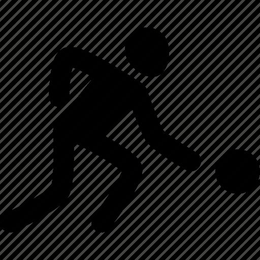 athlete, ball, basketball, silhouette, sport, workout icon