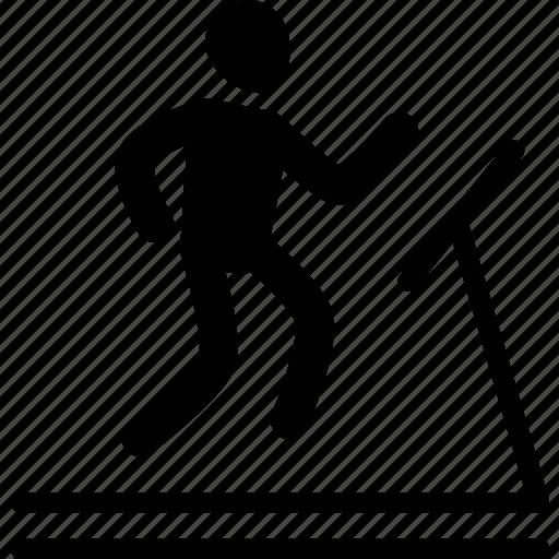 athlete, exercise, run, treadmill, walk, workout icon
