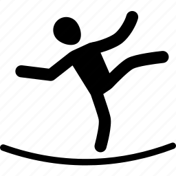 aerobic, athlete, rope, silhouette, sport, workout icon