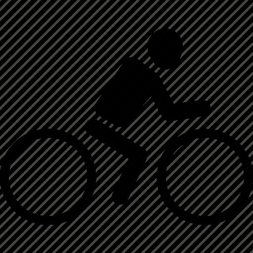 athlete, bicycle, bike, exercise, silhouette, sport icon