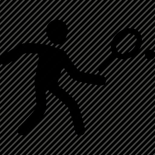 athlete, exercise, racket, sport, tennis, workout icon