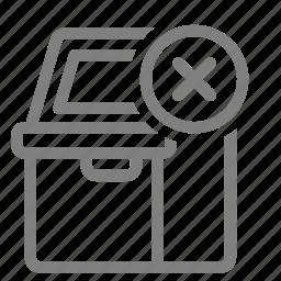atm, cancel, close, delete, error, remove, sign icon