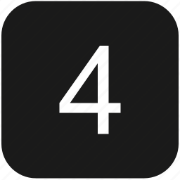 count, four, keyboard, number icon