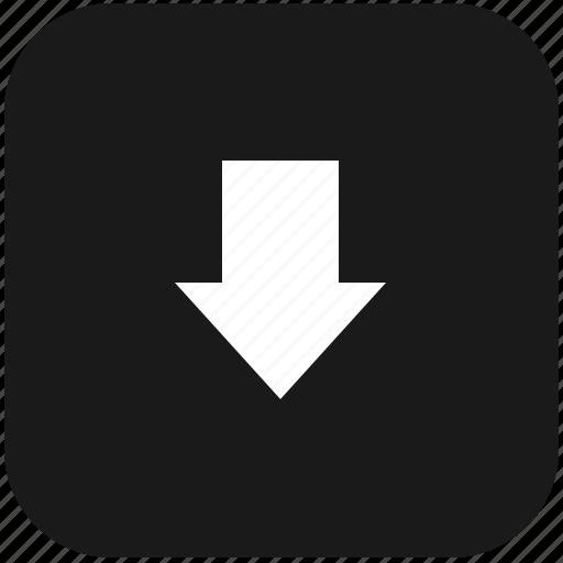 arrow, bottom, function, keyboard, lowcase, shift icon