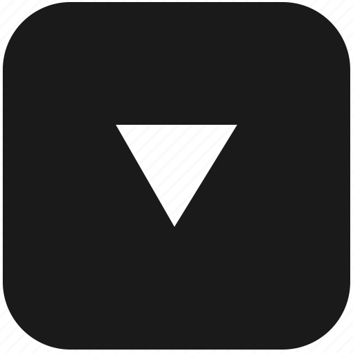 arrow, bottom, function, keyboard, navigation, triangle icon