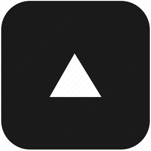 arrow, function, keyboard, navigation, top, triangle, up icon