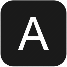 a, eng, english, keyboard, latin, letter, uppercase icon