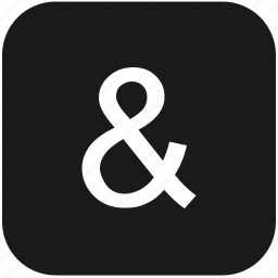 ampersand, eng, english, keyboard, latin, letter icon