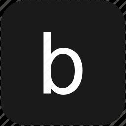 b, eng, english, keyboard, latin, letter, lowcase icon