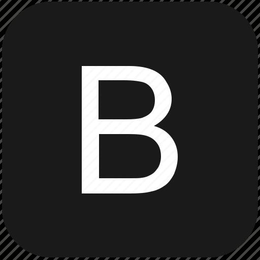 b, eng, english, keyboard, latin, letter, uppercase icon