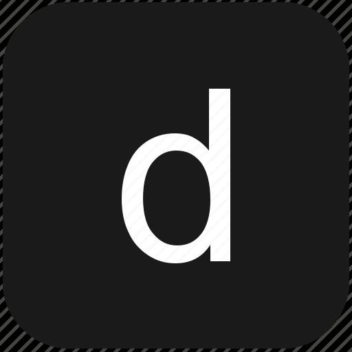 d, eng, english, keyboard, latin, letter, lowcase icon