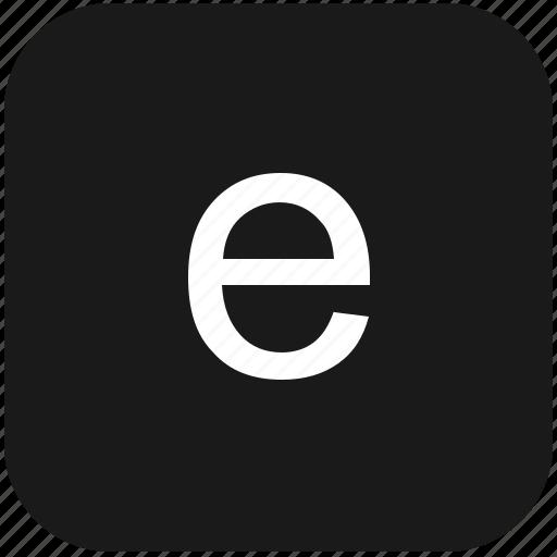 e, eng, english, keyboard, latin, letter, lowcase icon