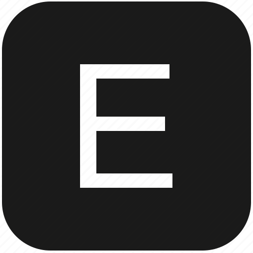e, eng, english, keyboard, latin, letter, uppercase icon