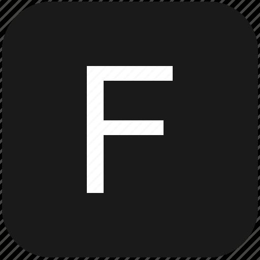 eng, english, f, keyboard, latin, letter, uppercase icon