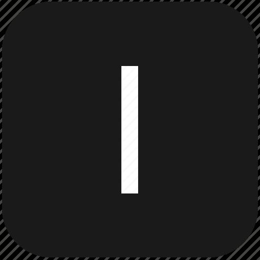 eng, english, i, keyboard, latin, letter, uppercase icon