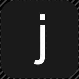 eng, english, j, keyboard, latin, letter, lowcase icon