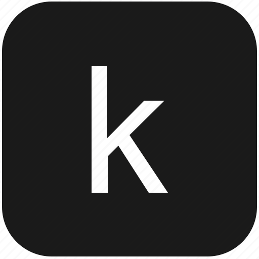eng, english, k, keyboard, latin, letter, lowcase icon