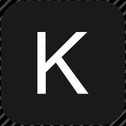 eng, english, k, keyboard, latin, letter, uppercase icon