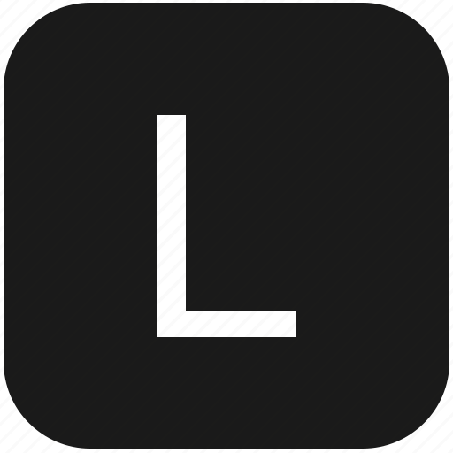 eng, english, keyboard, l, latin, letter, uppercase icon
