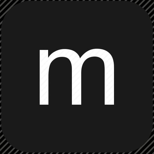 eng, english, keyboard, latin, letter, lowcase, m icon